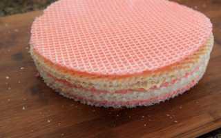 Как приготовить торт из вафельных коржей