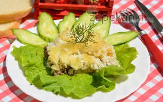 Запеканка из риса с мясом в духовке